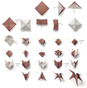 The French Brand Released A Diagram On How To Fold Same Scented Origami Paper Horses That Came In Sets Of Three And Was Part Collection